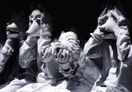 「子狐たちの戯れ」(3枚組) 入岡 一郎 (一般応募)